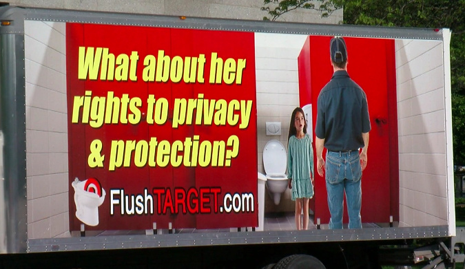 FLUSH TARGET Truck Will Travel To Every Store In MN Delivering A Serious Message