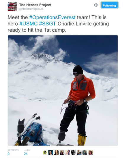 Marine Vet Becomes First Combat Amputee To Climb Mount Everest