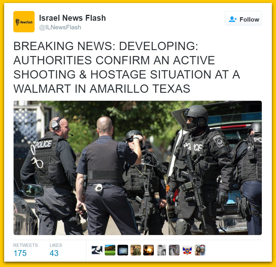 Active Shooter, Possible Hostage Situation At Walmart In Amarillo Texas, Report Somali Man