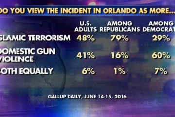 Poll Shows 41% Believe Orlando Attack Domestic Gun Violence