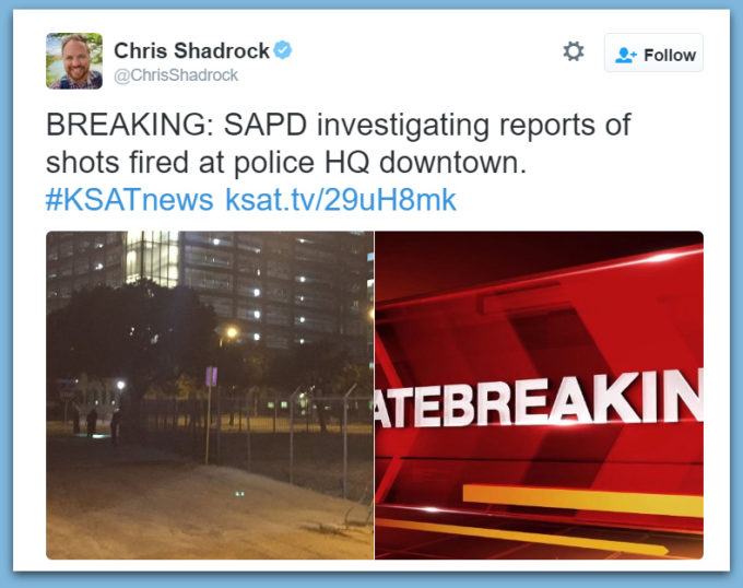 Gunman Opens Fire At San Antonio Police HQs