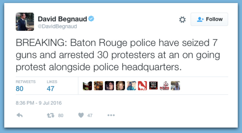 Police Seized 7 Guns, Arrest 30 At BLM Protests In Baton Rouge