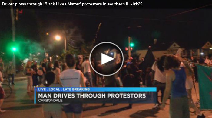 "IL Man Plows Through Black Lives Matter Mob Blocking Road & Gives Protester A ""Ride"" (Video)"