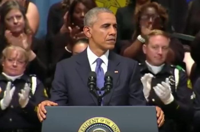 During Memorial Speech For Dallas Officers Obama Mentions Himself 45 Times