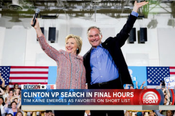 Hillary Clinton Selects Tim Kaine As Her VP