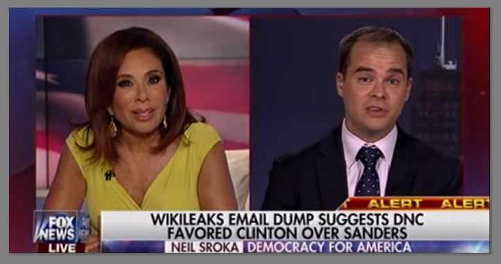Judge Jeanine: Wikileaks Email Dump Suggests DNC Favored Clinton Over Sanders