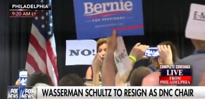 DNC DISASTER: Watch Sanders Supporters CRASH Debbie Wasserman Schultz Presser!