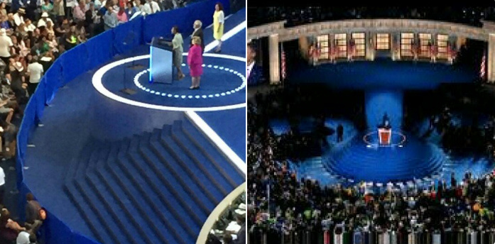 DNC: Dems Even Built Wall Around Podium