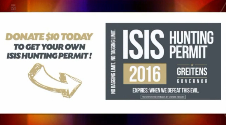 "CAIR Whines After ""ISIS Hunting Permit"" Stickers Handed Out"