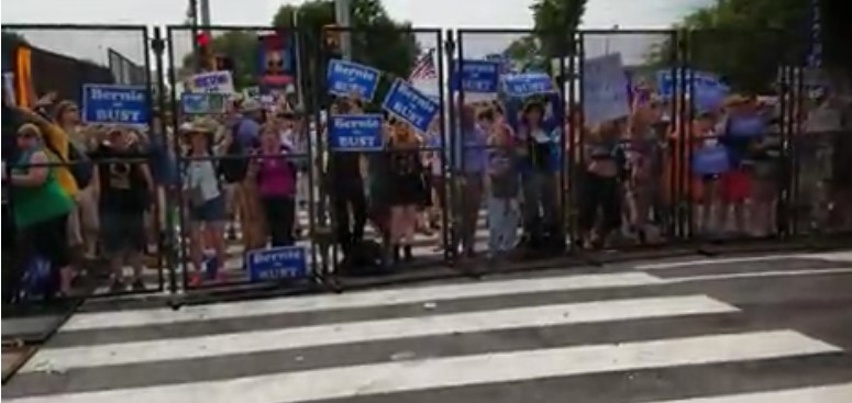 "Watch: Bernie Sanders Backers Forced In Their ""Safe Space"""