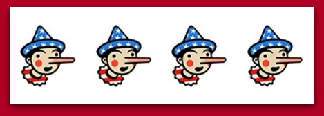 Hillary Gets Four Pinocchios