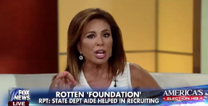 Watch Judge Jeanine Reveal The Clinton Foundation's Smoking Gun