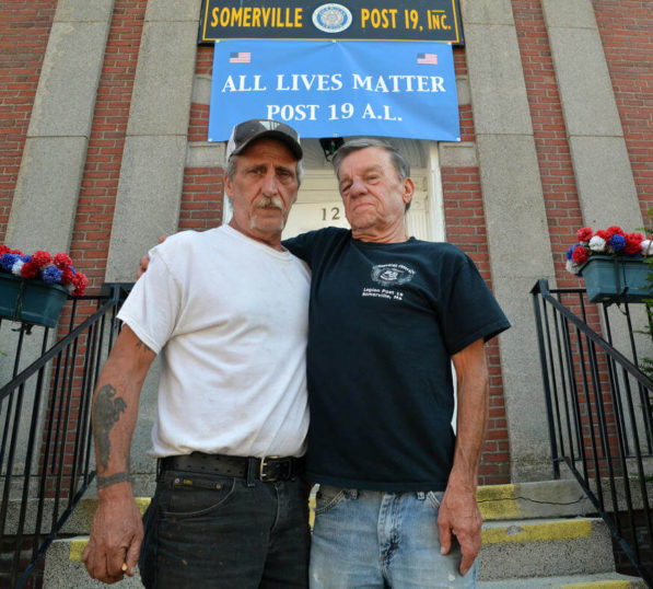 Vets Hang 'All Lives Matter' Banner After Mayor Refuses To Remove BLM Banner At City Hall