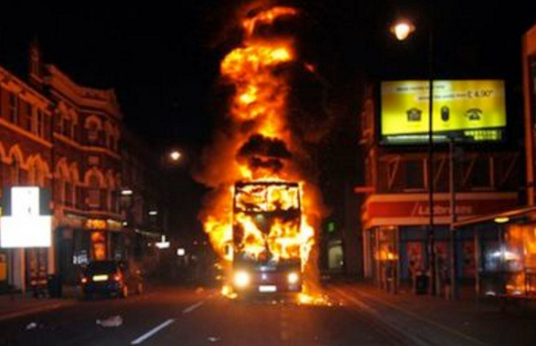 "Muslim Refugees Yell ""Allahu Akbar!"" Force Passengers Off Bus Then Burns It"