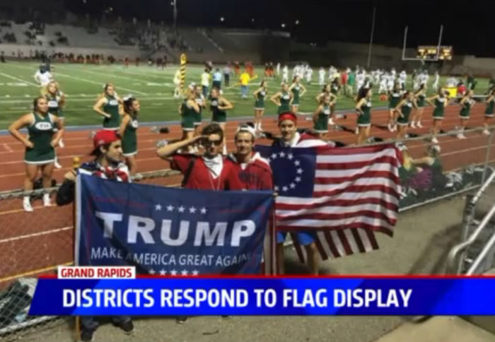 "Schools Crack Down On ""USA, USA"" Chant & Ban Flags"