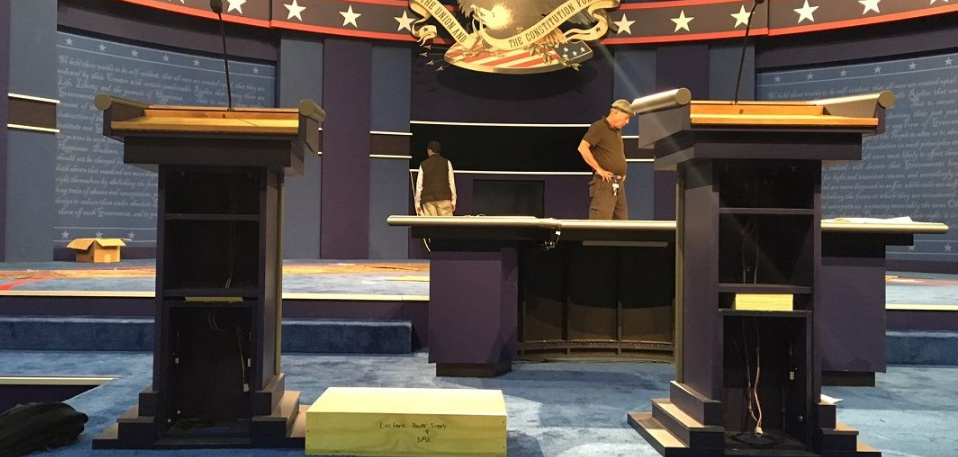 Hillary Gets Super-Sized Podium For Debate