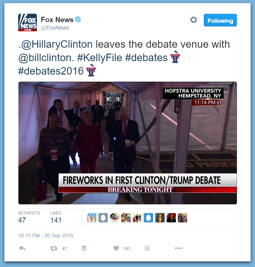 Hillary Runs from Reporters After Debate