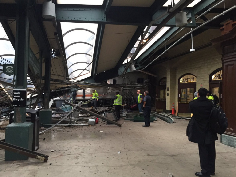 Train Crashes Into Hoboken, NJ Station Reception Area During Rush Hour, Mass Casualties Reported…