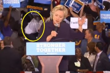 Hillary Clinton Supporters Shoved & Knocked Down Bill Rape Protester