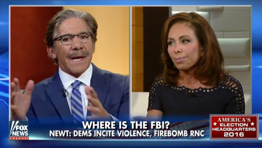 Judge Jeanine Schools Geraldo Rivera & Battle Over Leftist Agitators (VIDEO)