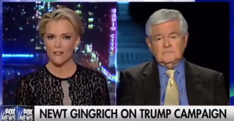 Newt Gingrich EXPLODES At Megyn Kelly