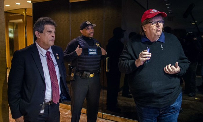 Michael Moore Makes It To Trump Tower's 4th Floor, Tries To Confront Trump To Ask Him To Step Down