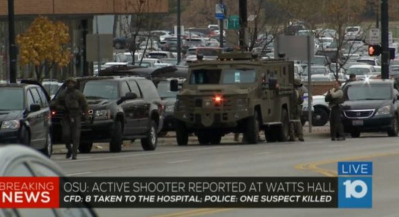 UPDATE LIVE VIDEO: OSU Shooting – Nine Injured – Suspect Killed