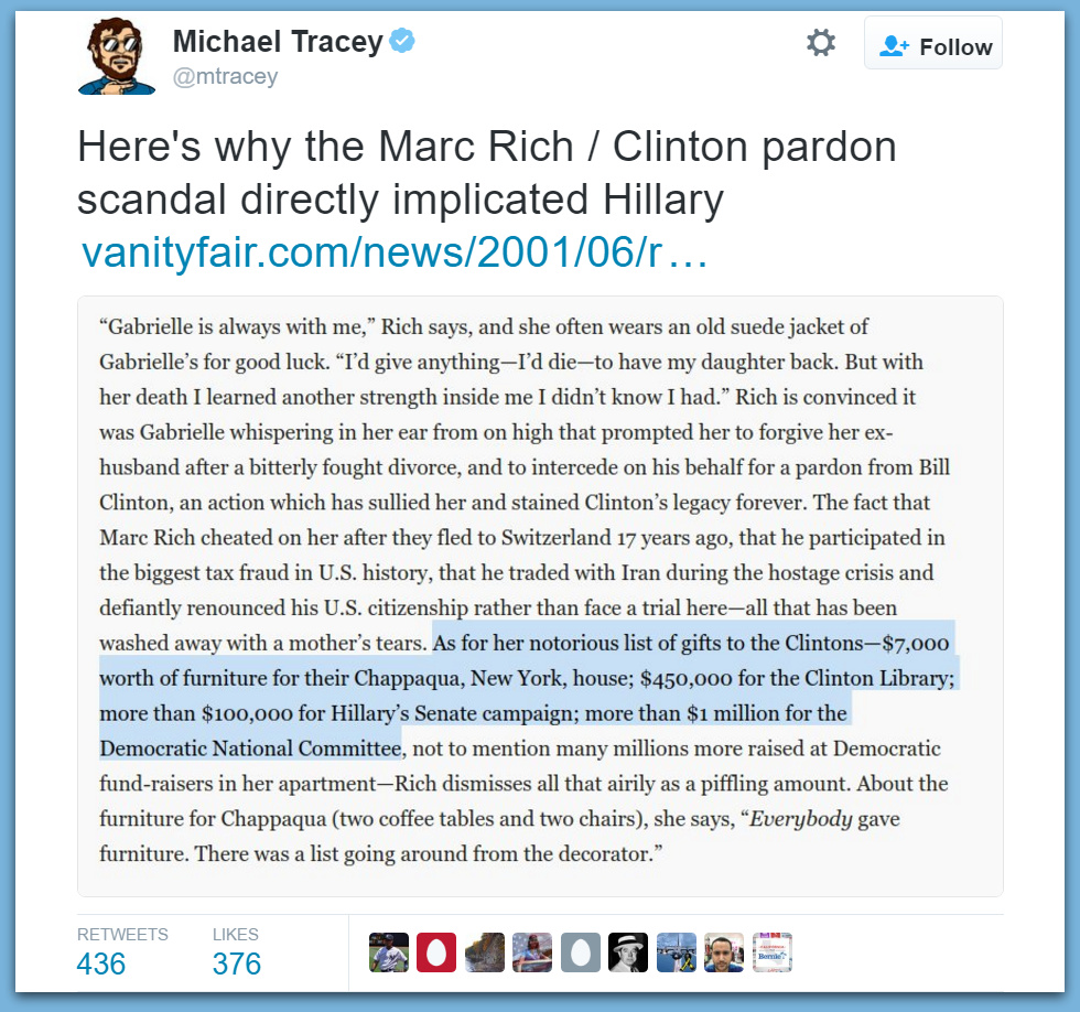 Here's How The Marc Rich Pardon Directly Implicated Hillary