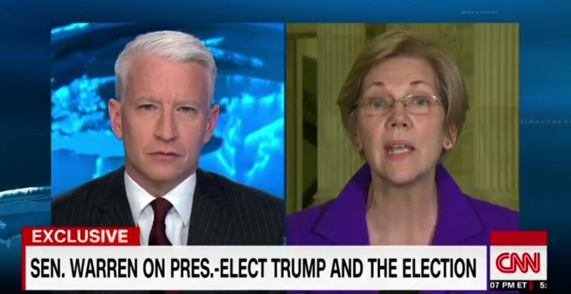 Anderson Cooper Shuts Down Elizabeth Warren