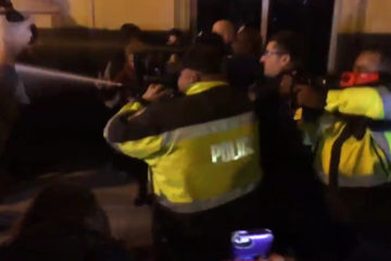 Anti-Trump Agitators Cause Disturbance Outside Deploraball, Also Throw Things At Guests & Chase Them