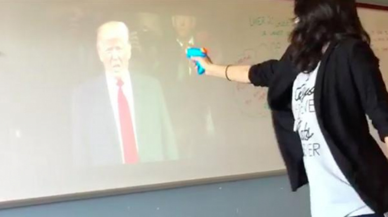 "Texas Teacher Who Staged ""Mock Assassination"" Of Trump Is Placed On ""Administrative Leave"""