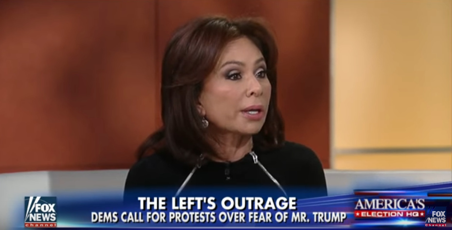 "'Justice' host Judge Jeanine speaks out. They made it clear on ""Face the Nation"" this weekend that they plan to cause turmoil as possible."