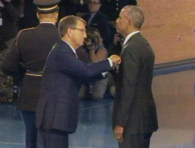 Obama Awards Himself Distinguished Public Service Medal