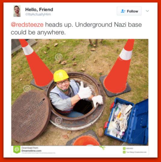 Lunatic Sarah Silverman Mistakes Sidewalk Utility Markings For Swastikas