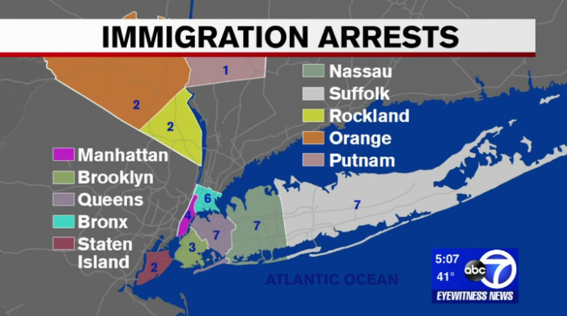 NYC AREA: ICE Conducts Illegal Alien Roundup, 41 Arrested Most With Criminal Convictions