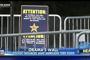 Obama's Chicago Wall: Neighbors Want Barricades Torn Down