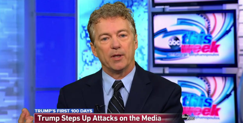 "Rand Paul: We're ""Very Lucky"" Trump Is in Charge & Not McCain"