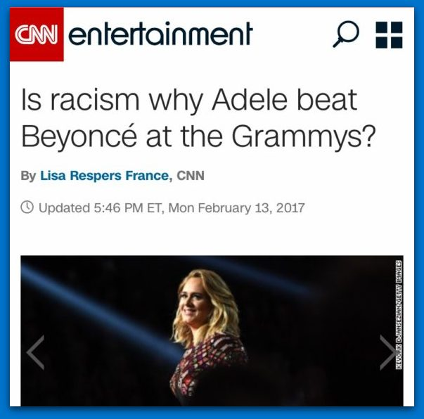 CNN Suggests Racism For The Reason Behind Adele Grammy Win!