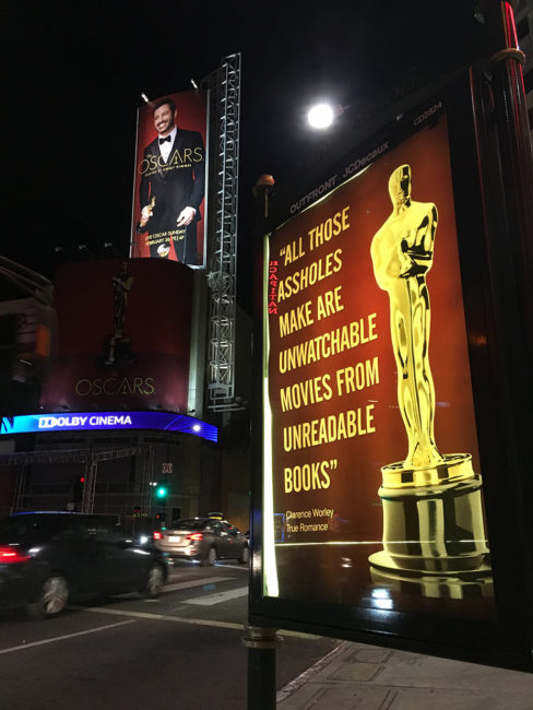 "Awesome! Artist Plasters ""ANTI-OSCARS"" Posters All Over Hollywood Mocking Oscars"