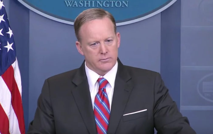 "Spicer Calls Out Race Baiting Journalist: ""Stop Shaking Your Head Again"" (Video)"