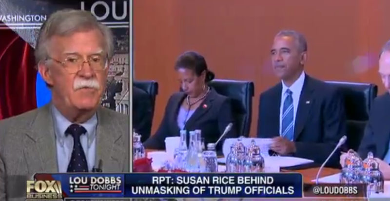 "Ambassador Bolton: Susan Rice Has ""Real Legal Problems Here"" (Video)"