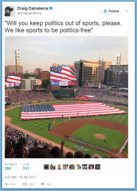 "NBC Sports Announcer Goes Off: Calls Us Flag And Air Force Flyover ""Political"" Stunt & Should Be ""Kept Out Of Sports"""