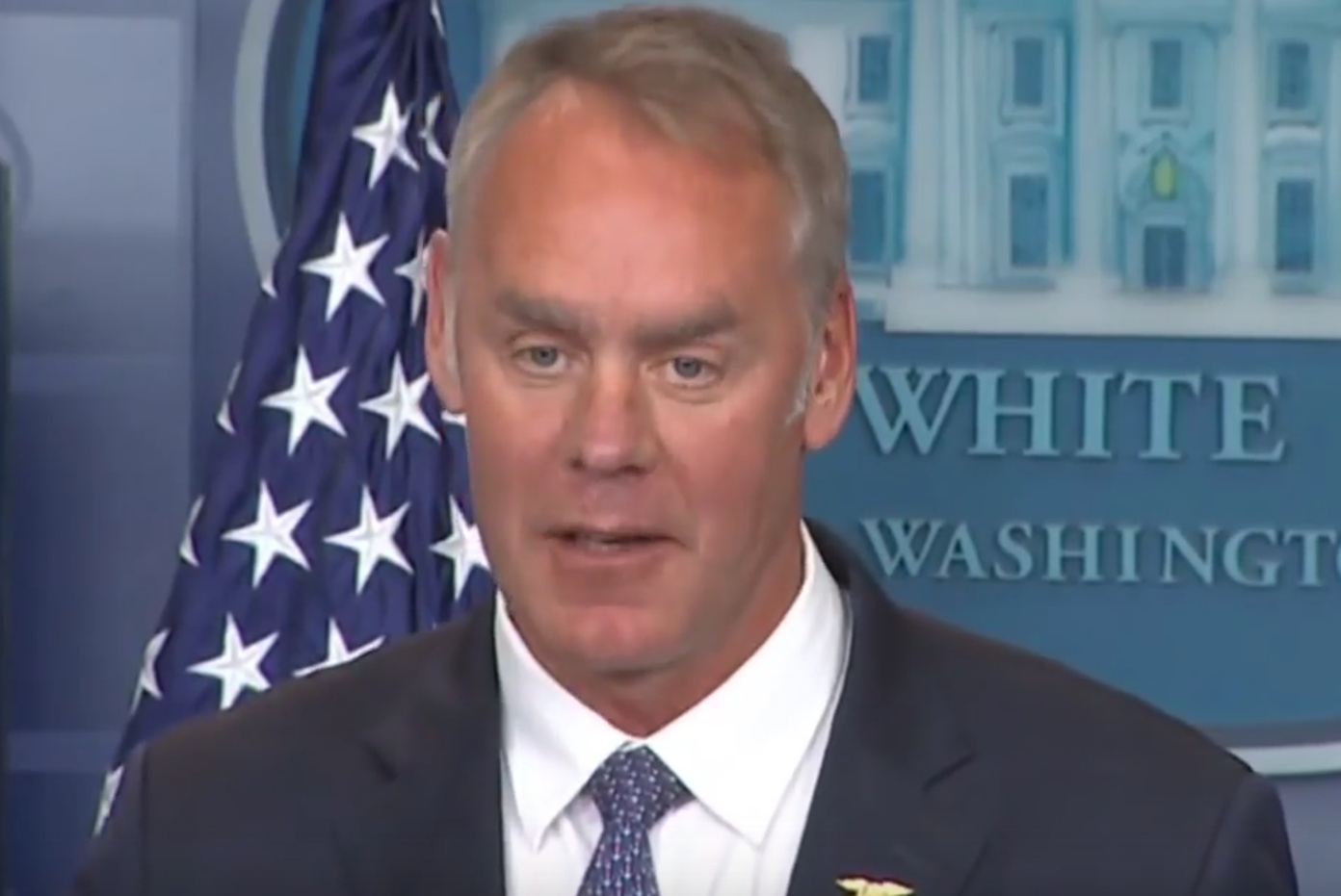 Interior Secretary Ryan Zinke Helps Vietnam War Veterans Wash Their Memorial Wall
