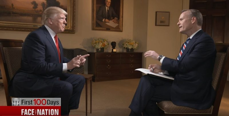 "President Trump Trolls CBS Host John Dickerson: ""I Love Your Show, I Call It Deface The Nation"" (Video)"