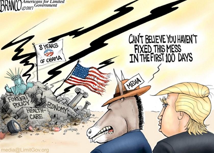 Cartoon: Trump's First 100 Days