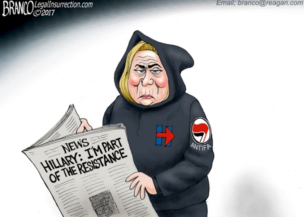 Political Cartoon: Hillary In The Resistance