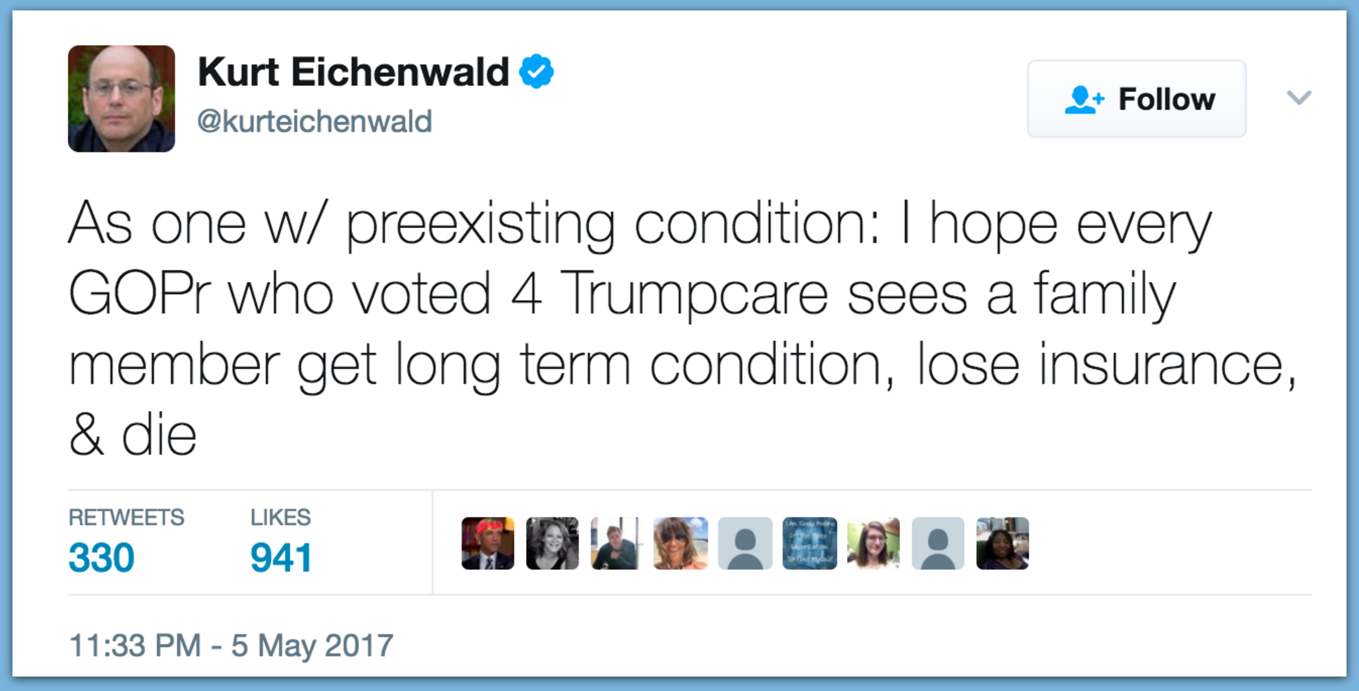 Newsweek Writer: I Want Republicans To Watch Their Families 'Lose Insurance' And 'Die'