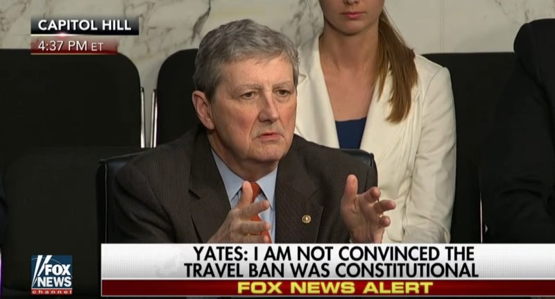 Senator Kennedy Destroys Yates For Defying Trump's Travel Ban: 'Who Appointed You To The Supreme Court?' (Video)
