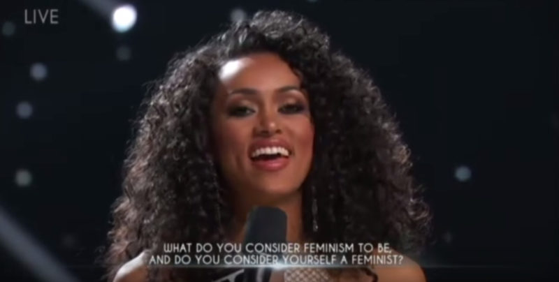 Miss DC Wins Miss USA Pageant After Dissing Man-Hating Feminism – Liberals Meltdown