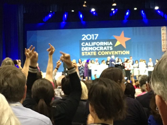 "Democrat Chairman Yells ""All Together Now… F*ck Donald Trump!"" While Crowd Holds Up Two Middle Fingers (Video)"